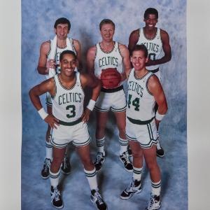 Larry Bird Dennis Johnson Boston Celtics Big Five Legends Kevin McHale Danny Ainge and Robert Parish 8X10 Photo